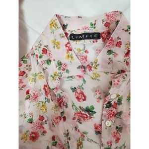 See-through  floral blouse